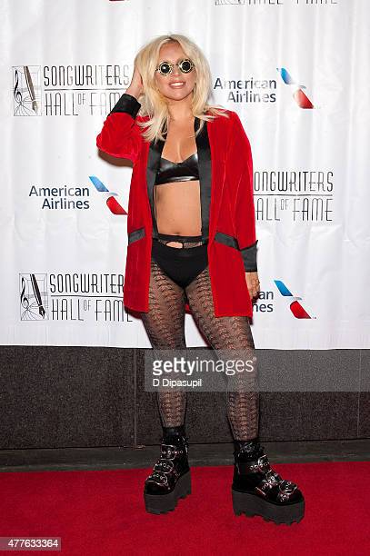 Lady Gaga attends the Songwriters Hall of Fame 46th Annual Induction and Awards at the Marriott Marquis Hotel on June 18 2015 in New York City