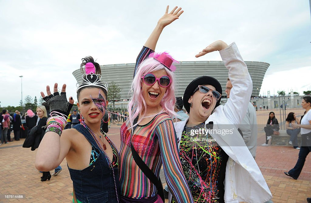 Lady Gaga fans gather outside Cape Town Stadium on December 3, 2012, in Cape Town, South Africa. This was the last South African performance in Lady Gaga's Born This Way Ball World Tour.