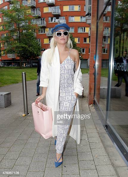 Lady Gaga is seen arriving for a Bikram Yoga Class on June 8 2015 in London England