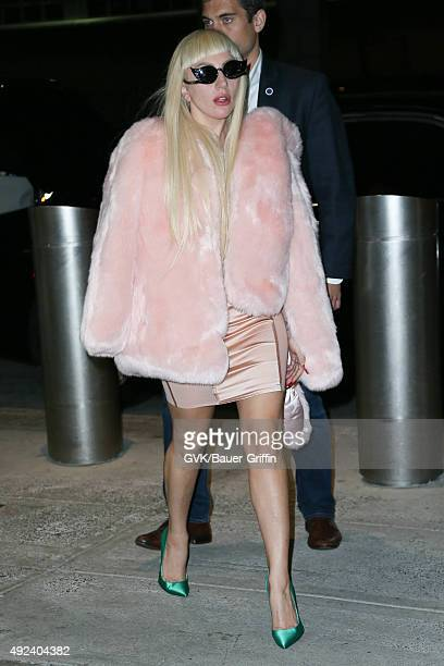 Lady Gaga is seen at JFK on October 12 2015 in New York City