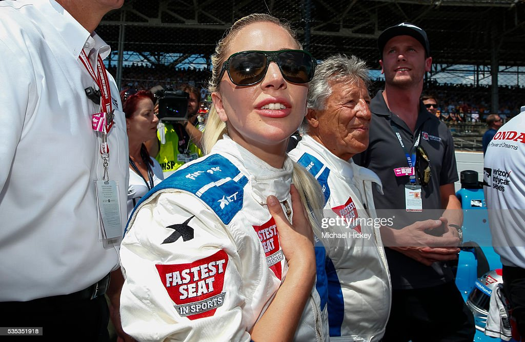 <a gi-track='captionPersonalityLinkClicked' href=/galleries/search?phrase=Lady+Gaga&family=editorial&specificpeople=4456754 ng-click='$event.stopPropagation()'>Lady Gaga</a> is seen before the Indy 500 at the Indianapolis Motor Speedway on May 29, 2016 in Indianapolis, Indiana.