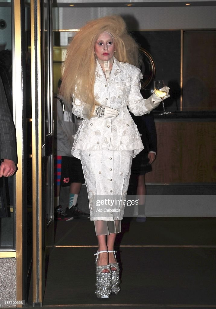 <a gi-track='captionPersonalityLinkClicked' href=/galleries/search?phrase=Lady+Gaga&family=editorial&specificpeople=4456754 ng-click='$event.stopPropagation()'>Lady Gaga</a> is seen in Midtown on November 11, 2013 in New York City.