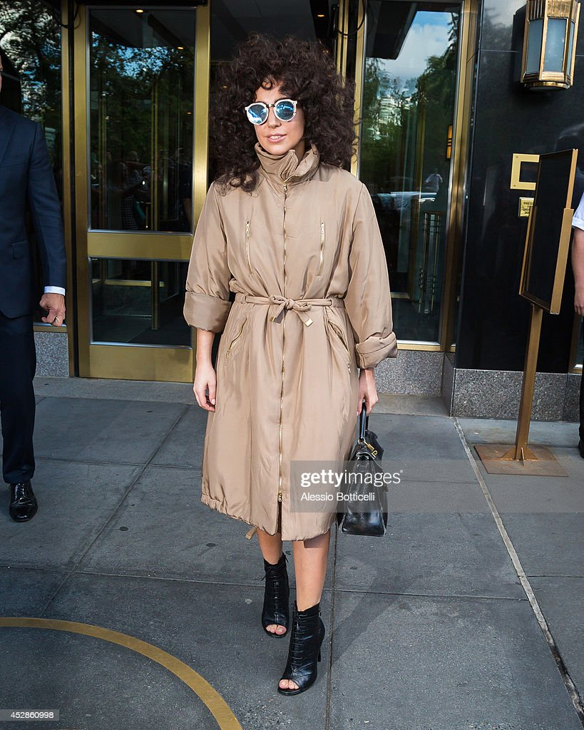 <a gi-track='captionPersonalityLinkClicked' href=/galleries/search?phrase=Lady+Gaga&family=editorial&specificpeople=4456754 ng-click='$event.stopPropagation()'>Lady Gaga</a> is seen leaving her apartment building on July 28, 2014 in New York City.