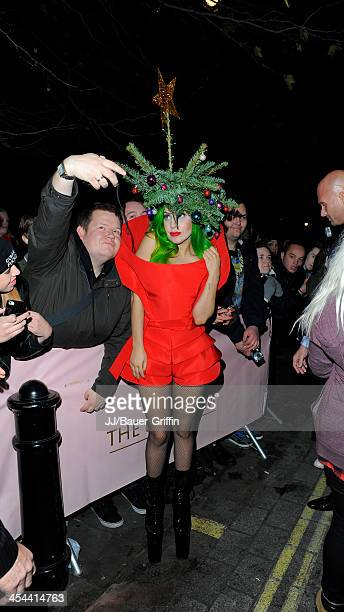 Lady Gaga is seen on December 08 2013 in London United Kingdom