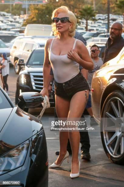 Lady Gaga is seen on October 24 2017 in Los Angeles California