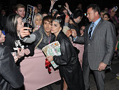 Lady Gaga is seen outside outside the Langham Hotel on October 25 2014 in London England