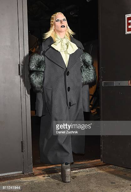 Lady Gaga is seen outside the Marc Jacobs show during New York Fashion Week Women's Fall/Winter 2016 on February 18 2016 in New York City