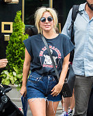 Lady Gaga is seen with her fans in Midtown on June 23 2015 in New York City
