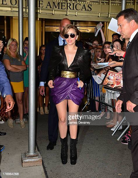 Lady Gaga leaves 'Elvis Duran and the Z100 Morning Show' at Z100 Studio on August 19 2013 in New York City