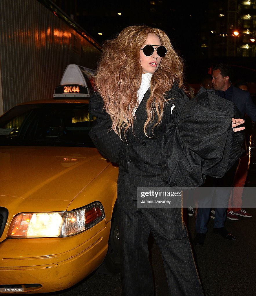 <a gi-track='captionPersonalityLinkClicked' href=/galleries/search?phrase=Lady+Gaga&family=editorial&specificpeople=4456754 ng-click='$event.stopPropagation()'>Lady Gaga</a> leaves Harlow on September 6, 2013 in New York City.