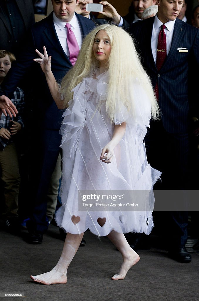 <a gi-track='captionPersonalityLinkClicked' href=/galleries/search?phrase=Lady+Gaga&family=editorial&specificpeople=4456754 ng-click='$event.stopPropagation()'>Lady Gaga</a> leaves Hotel Ritz on October 25, 2013 in Berlin, Germany.