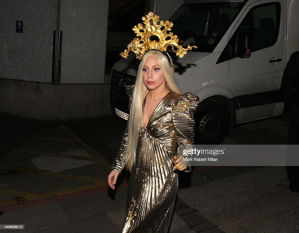 <a gi-track='captionPersonalityLinkClicked' href=/galleries/search?phrase=Lady+Gaga&family=editorial&specificpeople=4456754 ng-click='$event.stopPropagation()'>Lady Gaga</a> leaves the ITV studios and returns to the Langham hotel on December 4, 2013 in London, England.