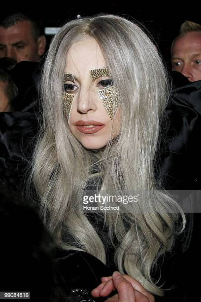 Lady Gaga leaves the O2 World after her concert on May 11 2010 in Berlin Germany