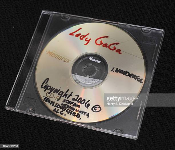 Lady Gaga Never Released Original Demo CD Recording is on display at the Gotta Have It's Rock Roll Pop Culture Auction Press Preview at the Gotta...