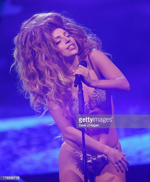 Lady GaGa opens iTunes Festival at The Roundhouse on September 1 2013 in London England
