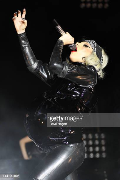 Lady Gaga performs at Radio 1's Big Weekend 2011 at Carlisle Airport on May 15 2011 in Carlisle England