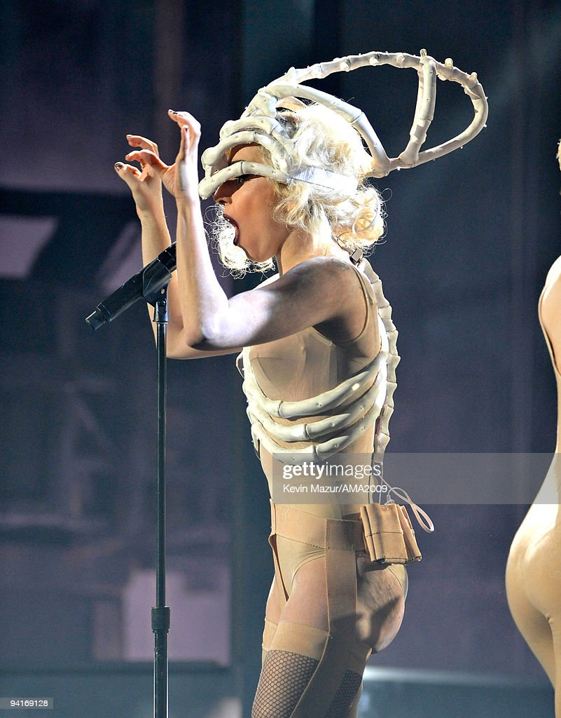 <a gi-track='captionPersonalityLinkClicked' href=/galleries/search?phrase=Lady+Gaga&family=editorial&specificpeople=4456754 ng-click='$event.stopPropagation()'>Lady Gaga</a> performs at the 2009 American Music Awards at Nokia Theatre L.A. Live on November 22, 2009 in Los Angeles, California.