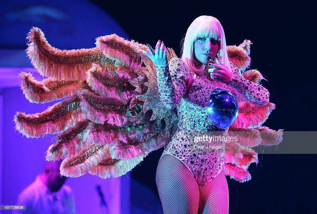 Lady Gaga performs live at 02 Arena on October 23 2014 in London England