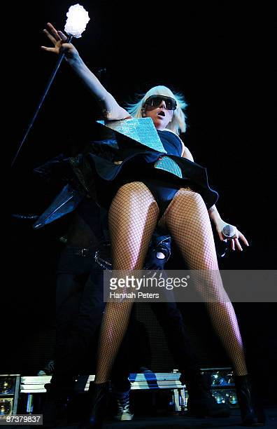 Lady Gaga performs on stage at the Vector Arena on May 16 2009 in Auckland New Zealand