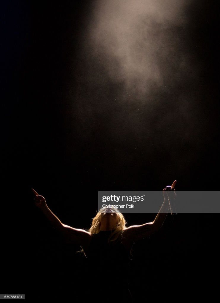 Lady Gaga performs on the Coachella Stage during day 2 of the Coachella Valley Music And Arts Festival (Weekend 1) at the Empire Polo Club on April 15, 2017 in Indio, California.