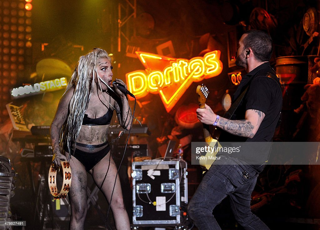 LAY - Lady Gaga performs on the Doritos #BoldStage at Stubb's Bar-B-Q in an exclusive performance celebrating her Born This Way Foundation on Thursday, March 13, 2014 at the South by Southwest Music Festival in Austin, Texas. The performance was only accessible for fans that proved their boldness by completing a Doritos Bold Mission.