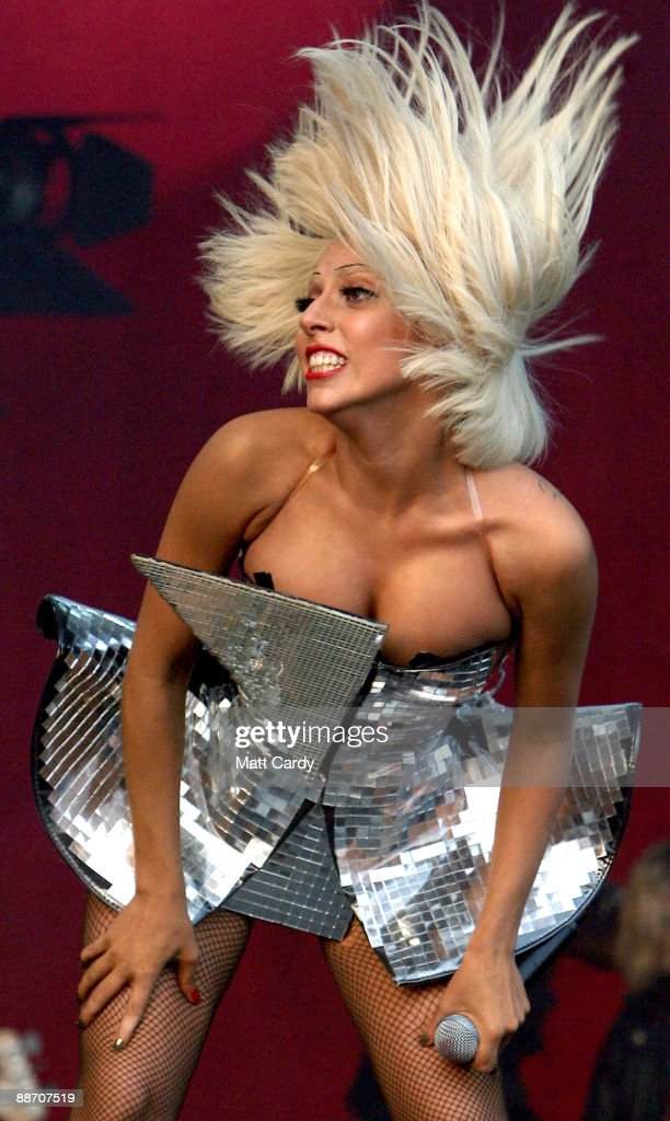 Lady GaGa performs on the Other Stage at the Glastonbury Festival on June 26, 2009 in Glastonbury, England.