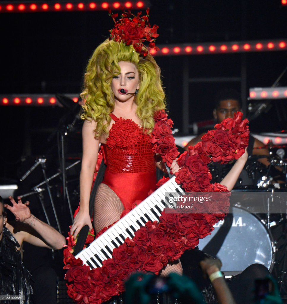 Lady Gaga performs onstage at Roseland Ballroom on April 7, 2014 in New York City.