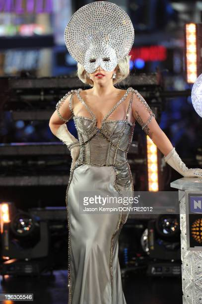 Lady Gaga performs onstage during Dick Clark's New Year's Rockin' Eve with Ryan Seacrest 2012 at Times Square on December 31 2011 in New York City