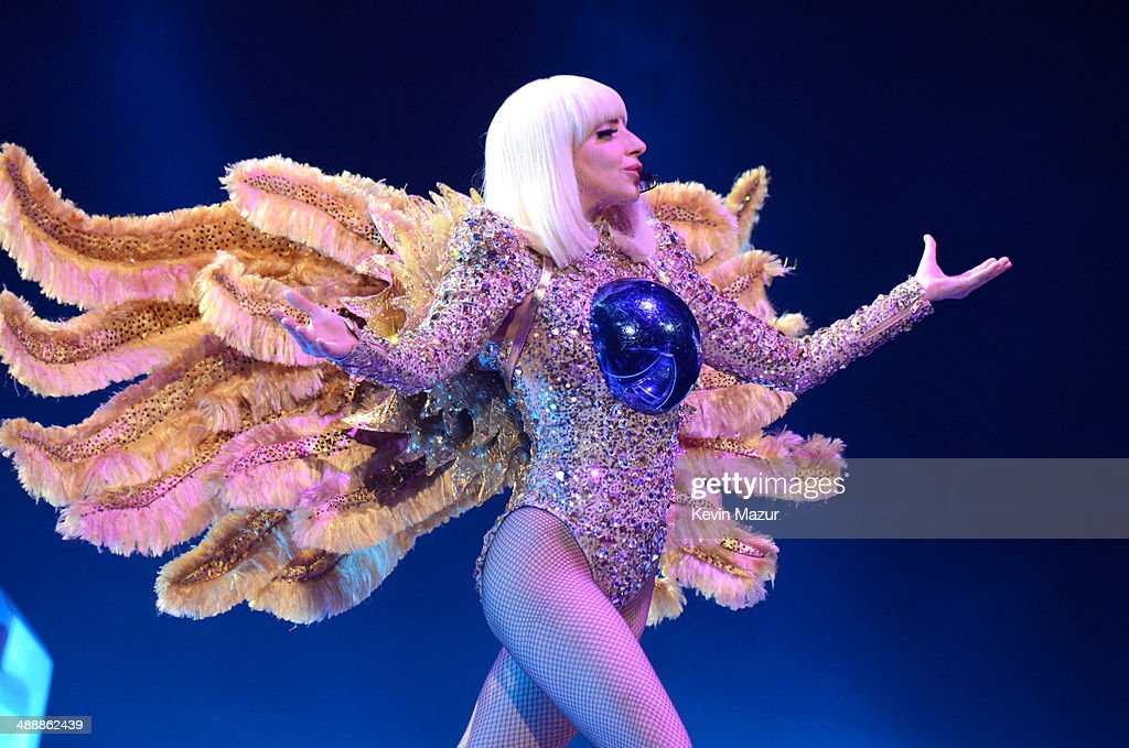 <a gi-track='captionPersonalityLinkClicked' href=/galleries/search?phrase=Lady+Gaga&family=editorial&specificpeople=4456754 ng-click='$event.stopPropagation()'>Lady Gaga</a> performs onstage during her 'artRave: The Artpop Ball' at Consol Energy Center on May 8, 2014 in Pittsburgh City.