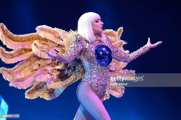 Lady Gaga performs onstage during her 'artRave The Artpop Ball' at Consol Energy Center on May 8 2014 in Pittsburgh City
