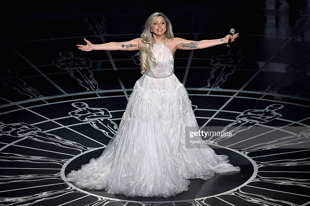 Lady Gaga performs onstage during the 87th Annual Academy Awards at Dolby Theatre on February 22 2015 in Hollywood California