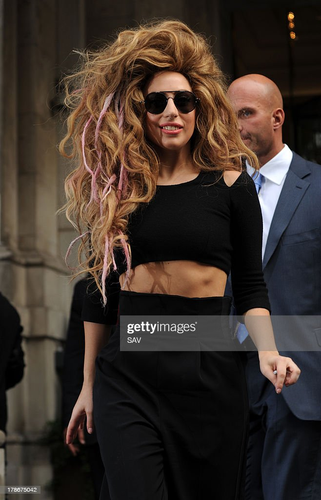 <a gi-track='captionPersonalityLinkClicked' href=/galleries/search?phrase=Lady+Gaga&family=editorial&specificpeople=4456754 ng-click='$event.stopPropagation()'>Lady Gaga</a> pictured leaving her hotel on August 30, 2013 in London, England.