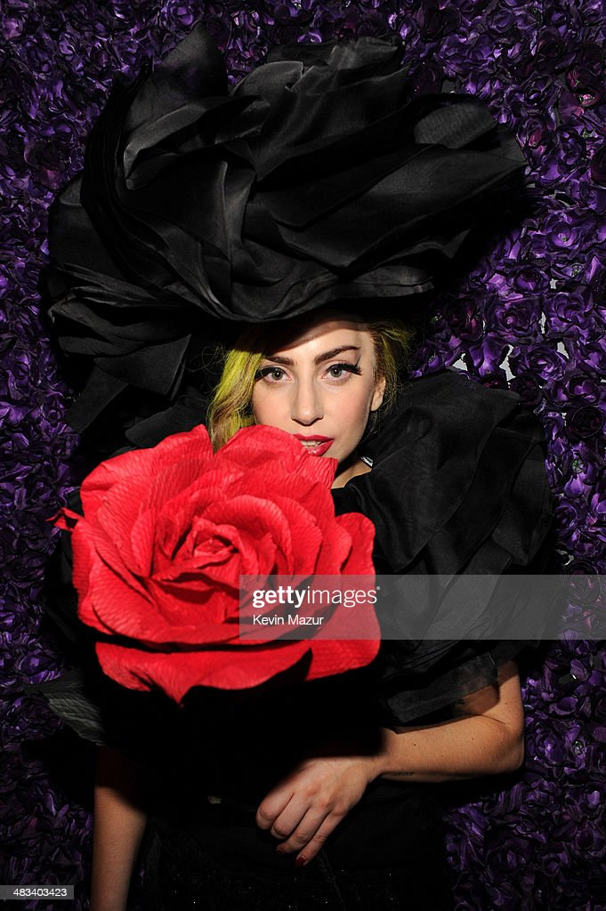 <a gi-track='captionPersonalityLinkClicked' href=/galleries/search?phrase=Lady+Gaga&family=editorial&specificpeople=4456754 ng-click='$event.stopPropagation()'>Lady Gaga</a> poses backstage following her show at Roseland Ballroom on April 7, 2014 in New York City.