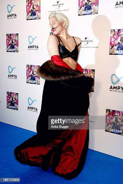 Lady Gaga poses for the press prior to the prelistening fan event of her new CD 'Artpop' at Halle Berghain on October 24 2013 in Berlin Germany