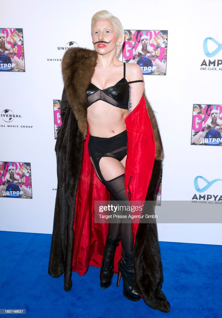 <a gi-track='captionPersonalityLinkClicked' href=/galleries/search?phrase=Lady+Gaga&family=editorial&specificpeople=4456754 ng-click='$event.stopPropagation()'>Lady Gaga</a> poses for the press prior to the prelistening fan event of her new Album 'Artpop' at Halle Berghain on October 24, 2013 in Berlin, Germany.