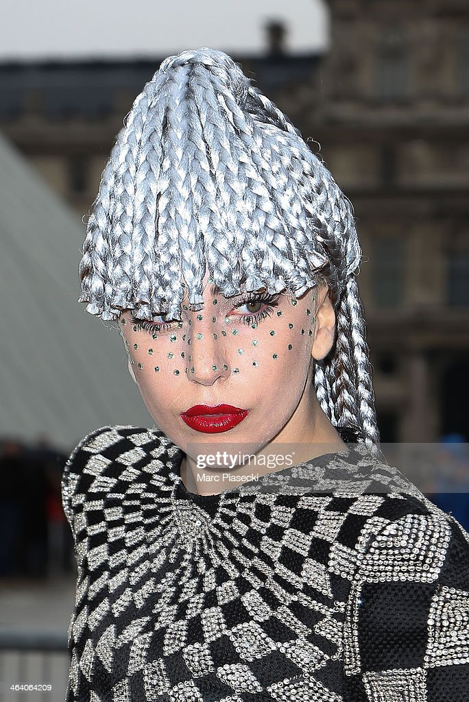 <a gi-track='captionPersonalityLinkClicked' href=/galleries/search?phrase=Lady+Gaga&family=editorial&specificpeople=4456754 ng-click='$event.stopPropagation()'>Lady Gaga</a> poses in front of the Louvre museum on January 20, 2014 in Paris, France.