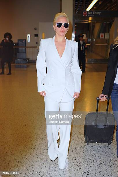 Lady Gaga seen at JFK Airport on December 9 2015 in New York City