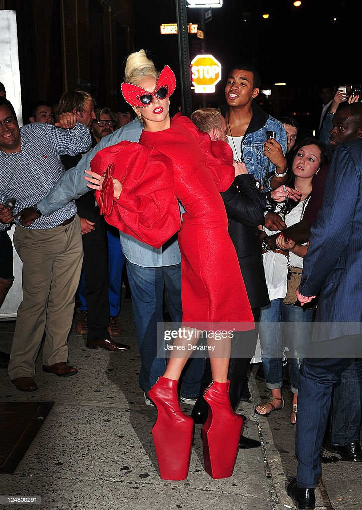 <a gi-track='captionPersonalityLinkClicked' href=/galleries/search?phrase=Lady+Gaga&family=editorial&specificpeople=4456754 ng-click='$event.stopPropagation()'>Lady Gaga</a> seen in the Meatpacking District on September 12, 2011 in New York City.