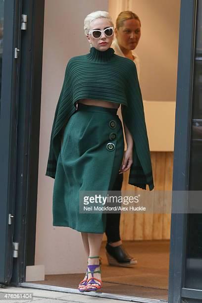 Lady Gaga seen leaving Bikram Yoga in Holloway on June 8 2015 in London England
