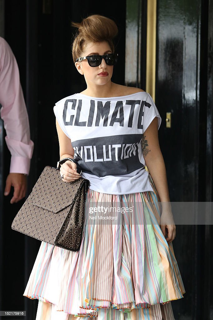 Lady Gaga seen leaving her hotel on September 17, 2012 in London, England.