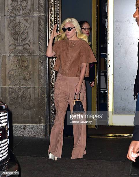 Lady Gaga seen on the streets of Manhattan on December 10 2015 in New York City