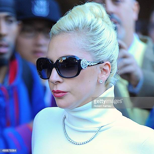 Lady Gaga seen out on November 4 2015 in New York City