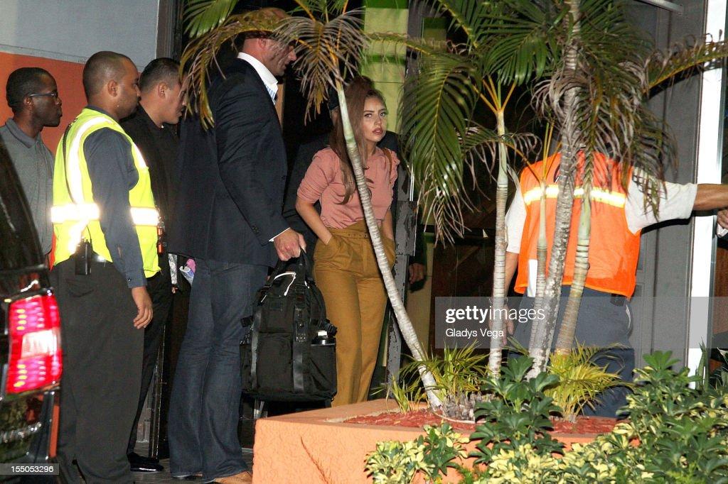 Lady Gaga sighted arriving at Luis Munoz Marin International Airport on October 30, 2012 in San Juan, Puerto Rico.