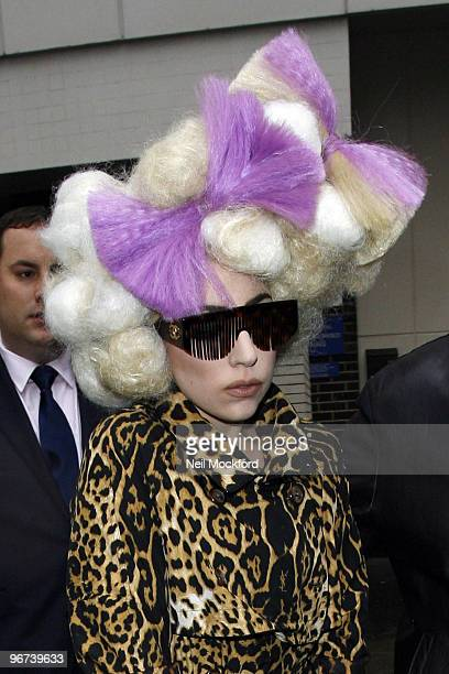 Lady Gaga Sighted leaving The Mayfair Hotel on February 16 2010 in London England
