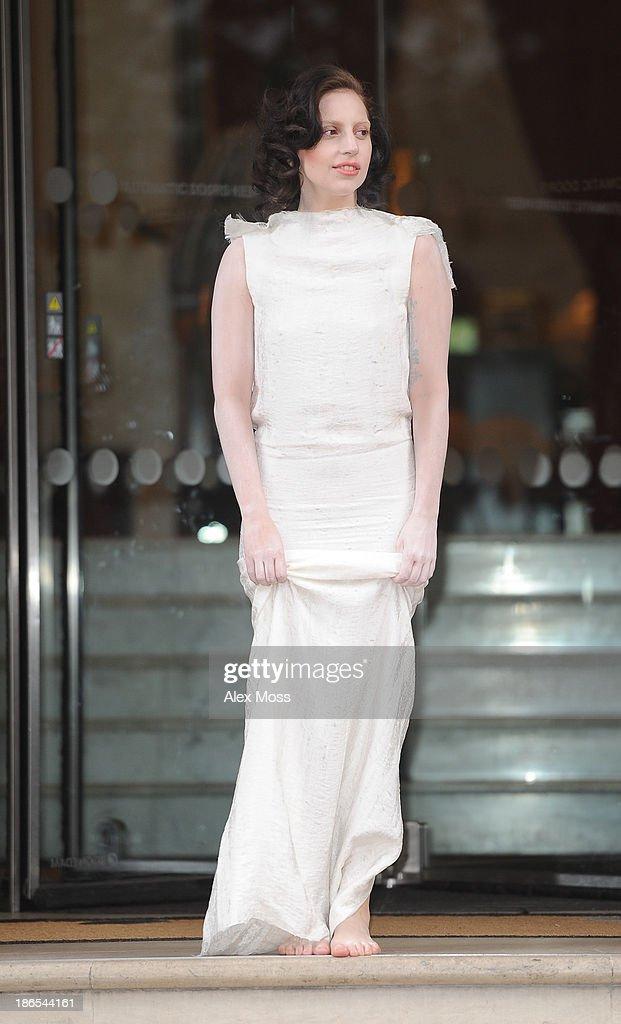 Lady GaGa sighting on November 1, 2013 in London, England.