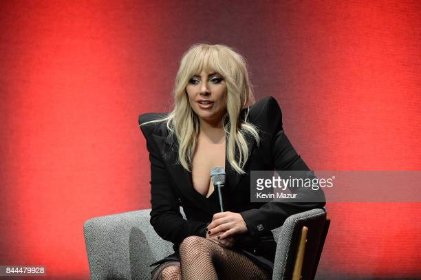 Lady Gaga speeaks at the world premiere of 'Gaga Five Foot Two' during the Toronto International Film Festival at Princess of Wales Theatre on...