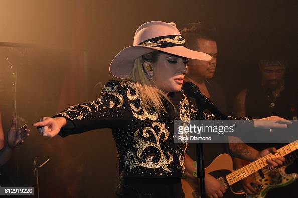 Lady Gaga surprises fans while on the Bud Light x Lady Gaga Dive Bar Tour at the 5 Spot where the singer performed three new tracks off her upcoming...