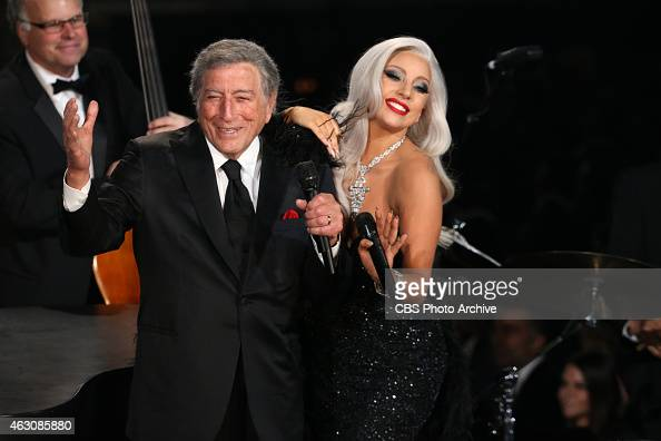 Lady Gaga Tony Bennett performs during The 57th Annual Grammy Awards Sunday Feb 8 2015 at STAPLES Center in Los Angeles and broadcast on the CBS...
