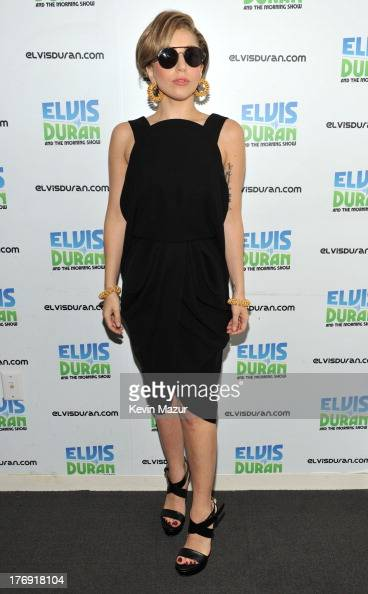 Lady Gaga visits 'Elvis Duran and the Z100 Morning Show' at Z100 Studio on August 19 2013 in New York City