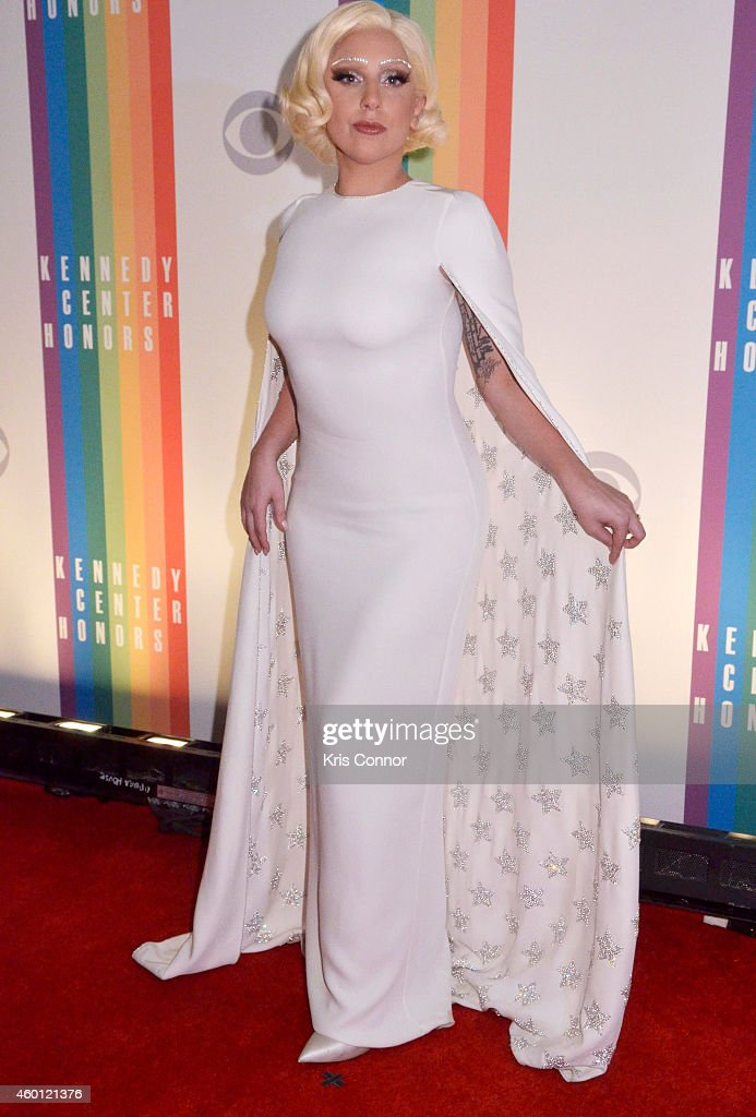 <a gi-track='captionPersonalityLinkClicked' href=/galleries/search?phrase=Lady+Gaga&family=editorial&specificpeople=4456754 ng-click='$event.stopPropagation()'>Lady Gaga</a> walks the red carpet during the 27th Annual Kennedy Center Honors at John F. Kennedy Center for the Performing Arts on December 7, 2014 in Washington, DC.